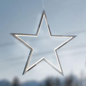 Sompex Hliník chróm - LED hviezda Lucy 34 cm
