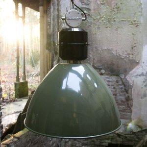 Sikrea Olive Green závesná lampa Frisk, industriálna