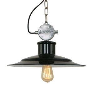 Sikrea Milstone – priemyselná závesná lampa v čiernej L07
