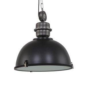 Steinhauer BV Čierna priemyselná závesná lampa Bikkel L02