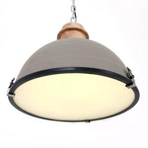 Steinhauer BV Sivá závesná lampa Bikkel s kovovým tienidlom