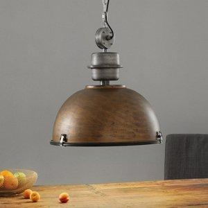 Steinhauer BV Hnedá závesná lampa Bikkel XXL, priemyselný dizajn
