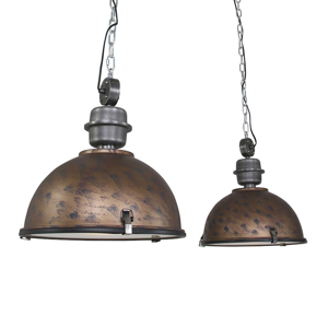 Steinhauer BV Závesná lampa Bikkel 2-plameňová, hnedá