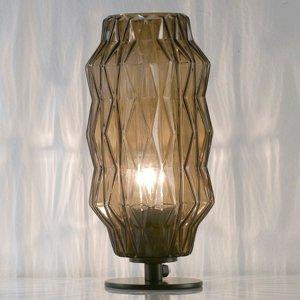 Selene Stolná lampa Origami, sivo-hnedá