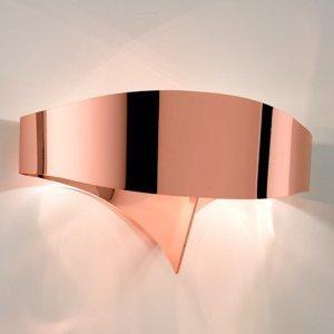 Selene Medené dizajnové nástenné svietidlo Scudo