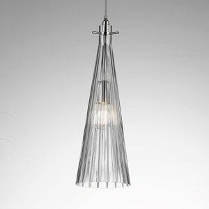 Selene Závesná lampa Costa Rica zo skla, priehľadná