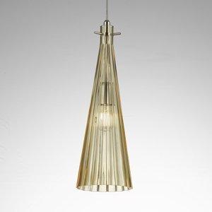 Selene Závesná lampa Costa Rica zo skla, jantárová