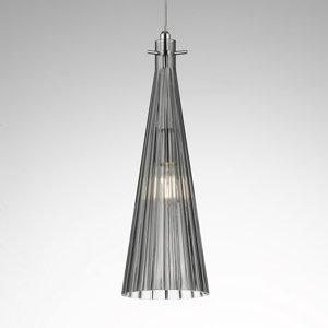 Selene Závesná lampa Costa Rica zo skla, sivá