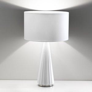 Selene Stolná lampa Costa Rica, tienidlo podstavec biele