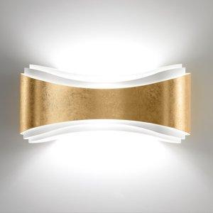 Selene Nástenné LED Ionica z ocele dekór lístkové zlato