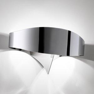 Selene Nástenné LED svietidlo Scudo vo vzhľade chrómu
