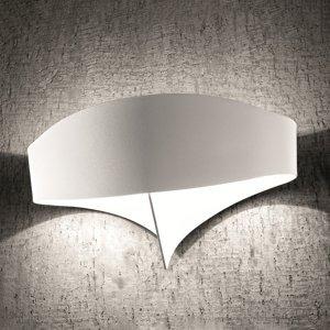 Selene Nástenné LED svietidlo Scudo z ocele, biele