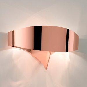 Selene Nástenné LED svietidlo Scudo z ocele, meď
