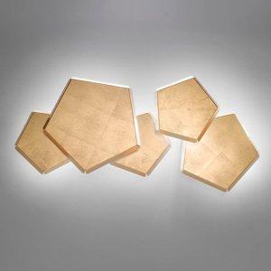Selene Nástenné LED Pleiadi s lístkovým zlatom, 5-pl.