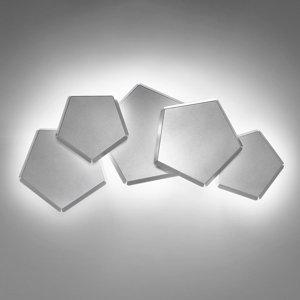 Selene Nástenné LED svietidlo Pleiadi v striebornej 5-pl.