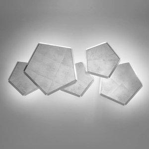 Selene Nástenné LED Pleiadi s lístkovým striebrom, 5-pl.