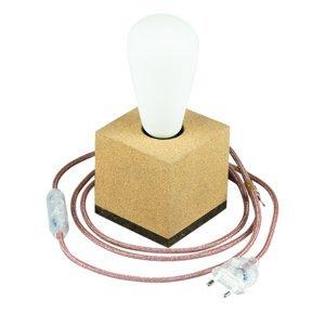 Segula SEGULA Kocka stolná lampa z korku kábel marsala