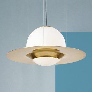 Sforzin Závesná lampa Hat zo skla s kovovým detailom