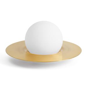 Sforzin Stolná lampa Hat zo skla a kovu so stmievačom