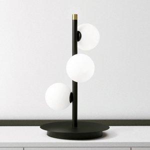 Sforzin Stolná lampa Pomì s tromi sklenenými guľami
