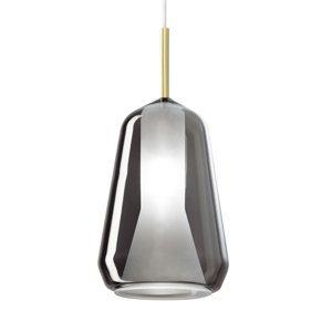 Sforzin Závesná lampa X-Ray úzky kužeľový tvar dymová sivá