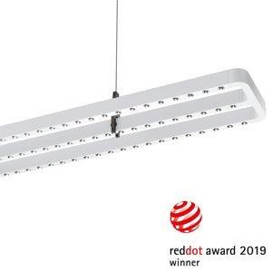 PERFORMANCE LIGHTING Závesné LED Small Line, snímač, 126cm, biele
