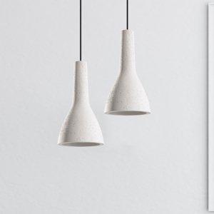 SOLLUX Závesná lampa Cona z betónu, Ø 17cm