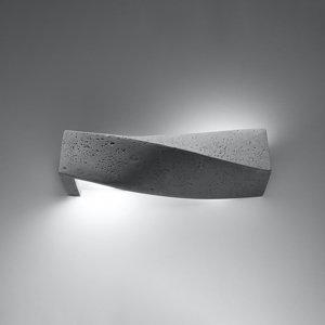 SOLLUX Nástenné svietidlo Turn z betónu, up/down, sivé