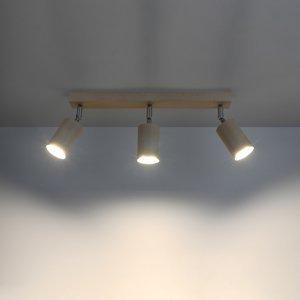 SOLLUX Stropné svietidlo Cre z dreva, troj-plameňové