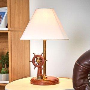 SEA-Club Výborná stolná lampa STEERING s drevom