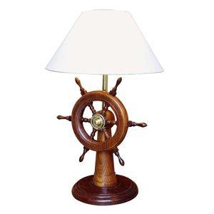 SEA-Club HELMSTAND stolná lampa s dreveným kormidlom