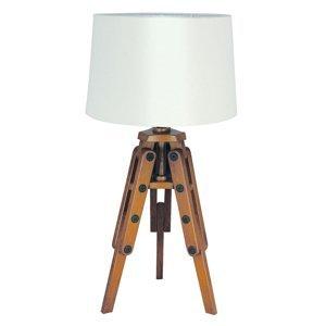 SEA-Club Drevená stolná lampa Marvin v tvare statívu