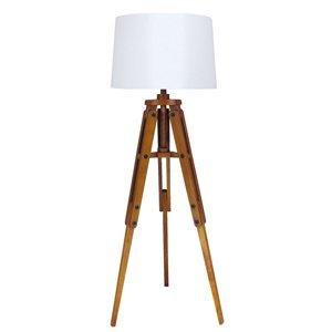 SEA-Club Drevená stojaca lampa Marvin tvar statívu 122cm