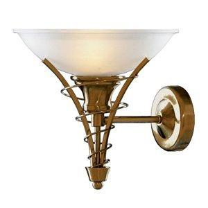 Searchlight Lineas – nástenné svietidlo, starožitná mosadz