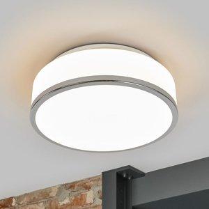 Searchlight Stropná lampa Flush IP44, Ø 28 cm, chróm