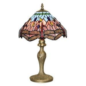 Searchlight Stolná lampa Dragonfly v štýle Tiffany