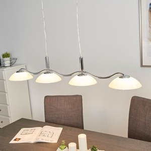 Searchlight Priscilla – zakrivená závesná lampa, 4-plameňová