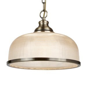 Searchlight Prizmatická závesná lampa Bistro II stará mosadz