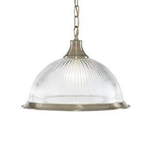 Searchlight Závesná lampa American Diner, 1-plameňová mosadz