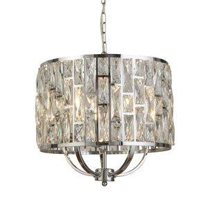 Searchlight Závesná lampa Bijou krištáľ sklenené tienidlo Ø 44