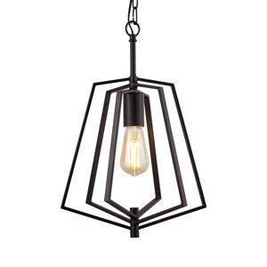 Searchlight Závesná lampa Slinky, 1-plameňová čierna matná