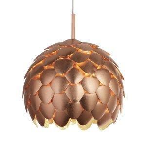 Searchlight Závesná lampa Artichoke, medená metalická