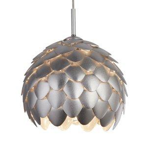 Searchlight Závesná lampa Artichoke, strieborná