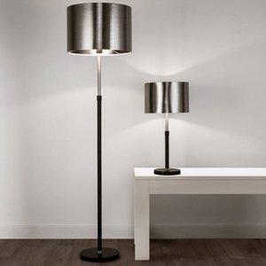 Searchlight Stolná lampa Column, tienidlo čierno-chrómové