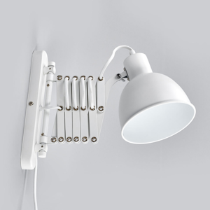 Spot-Light S harmonikou – biele nástenné svietidlo Talaro