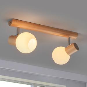 Spot-Light Dvoj-plameňové stropné svietidlo Karin