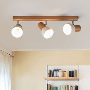 Spot-Light Svenda troj-plameňové drevené stropné svietidlo
