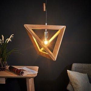 Spot-Light Drevená závesná lampa Trigonon