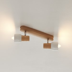 Spot-Light Drevené stropné svietidlo Svantje 2-plameňové