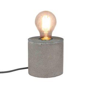 Spot-Light Strong – betónová stolná lampa v okrúhlom tvare